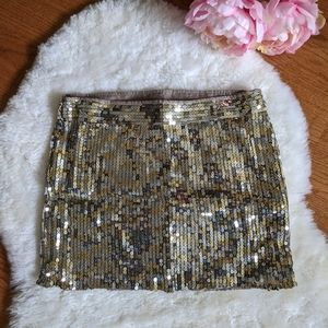 A&F sequined mini skirt